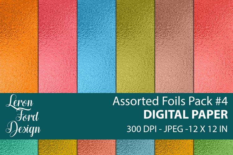 Assorted Foil Textures Pack #4 Digital Paper example image 1