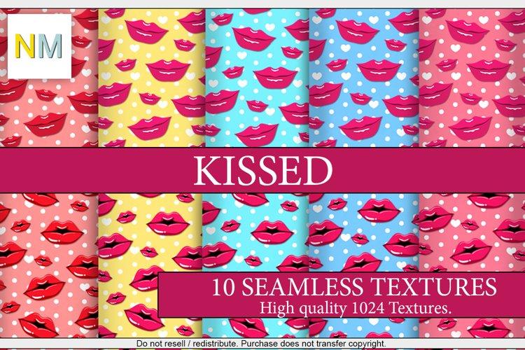 Kissed 10 Seamless Pop Art Lips Textures