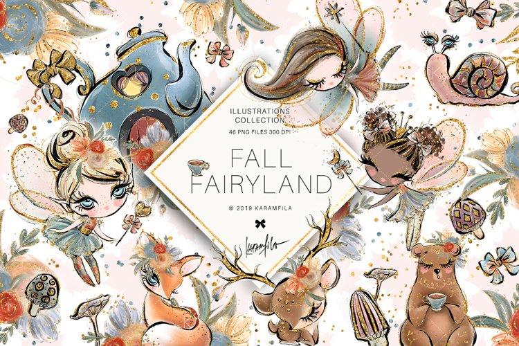 Fall Fairies Clipart