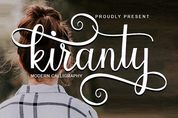 Kiranty   Modern Calligraphy example image 1