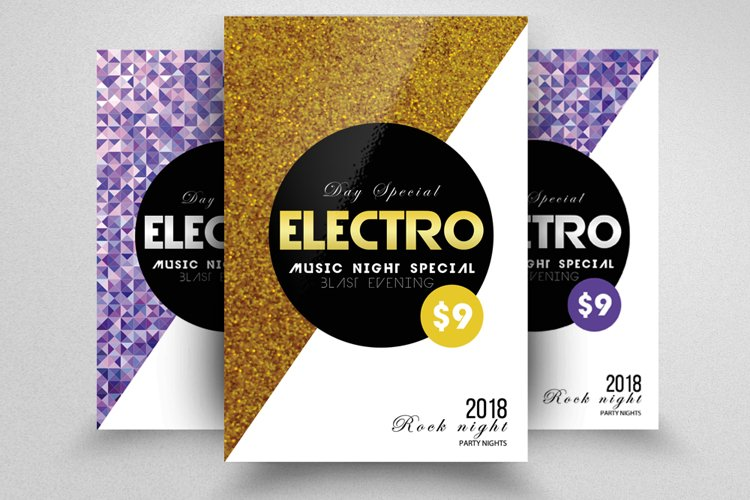 Electro Party Flyer example image 1