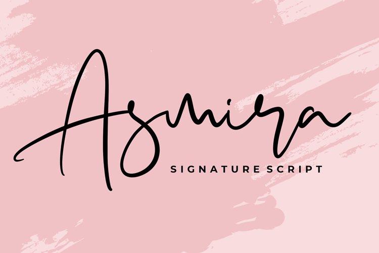 Asmira Signature Script Font example image 1