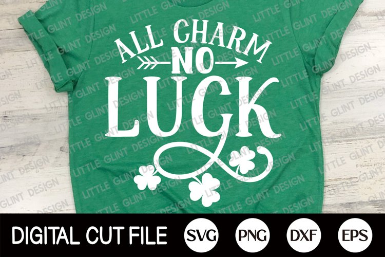 St Patricks Day Svg, Shamrock Svg, Lucky Dxf, Clover Shirt example image 1