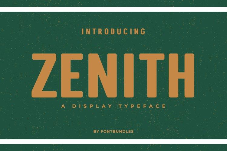 Web Font Zenith example image 1