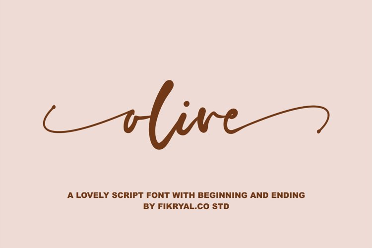 olive - a lovely script font with beginning and ending example image 1