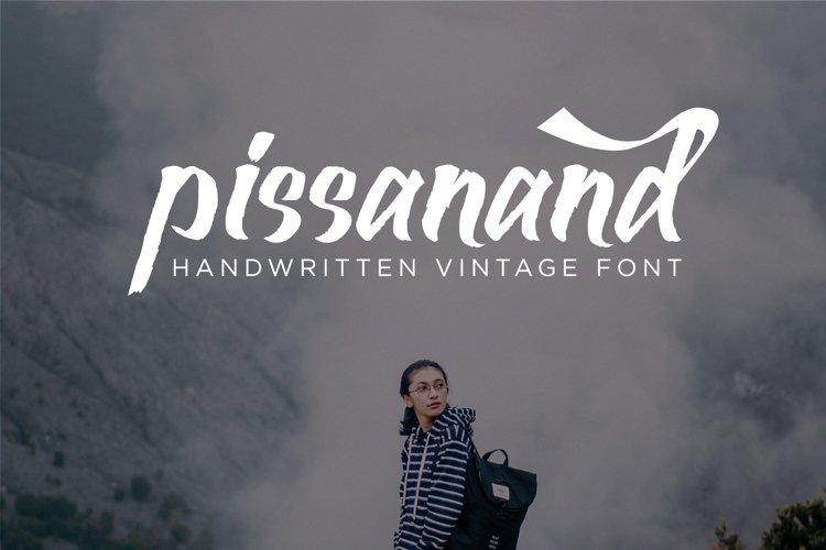 Pissanand Handwriten Vintage example image 1