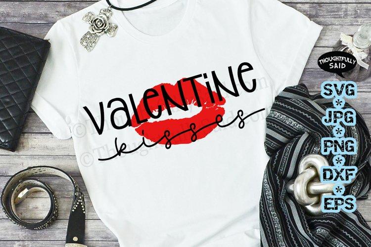 Valentine SVG JPG PNG DXF EPS, Valentine Kisses example image 1