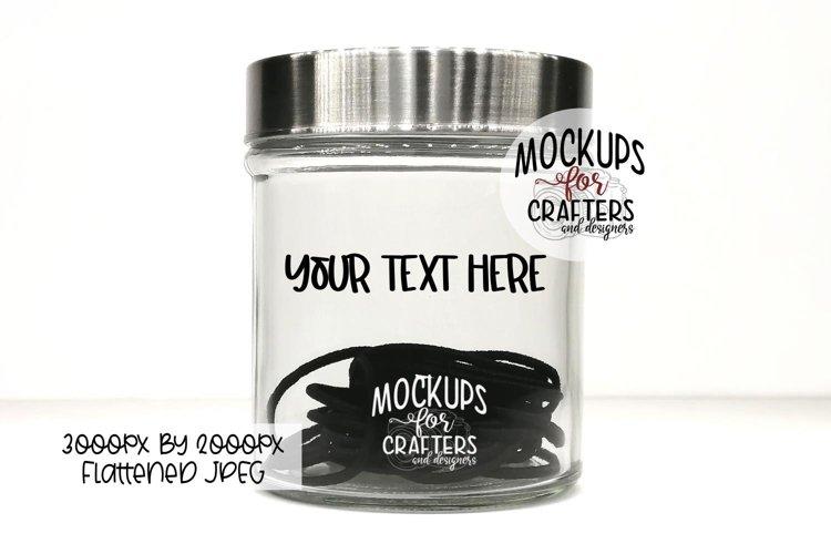 Glass Jar MOCK-UP, Bathroom, Hair Ties, Hair Elastics