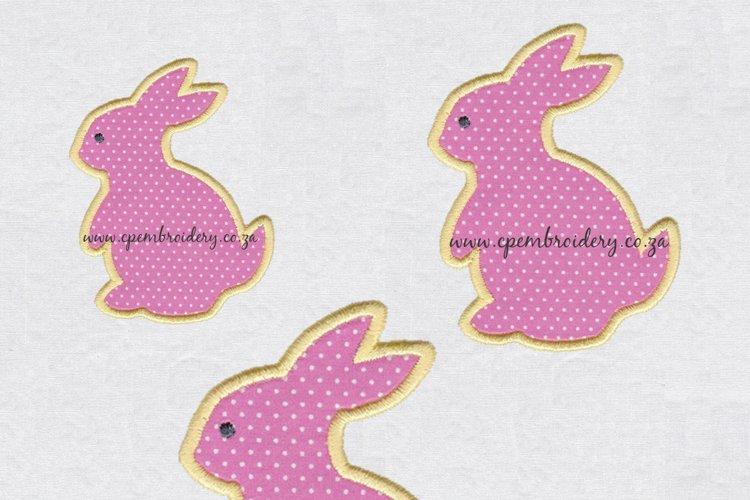 Bunny Rabbit Silhouette Applique Design example image 1