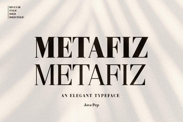 Metafiz - An elegant font example image 1