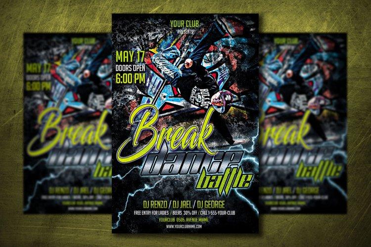 BREAK DANCE BATTLE |Break Dance Flyer | Photoshop Template example image 1