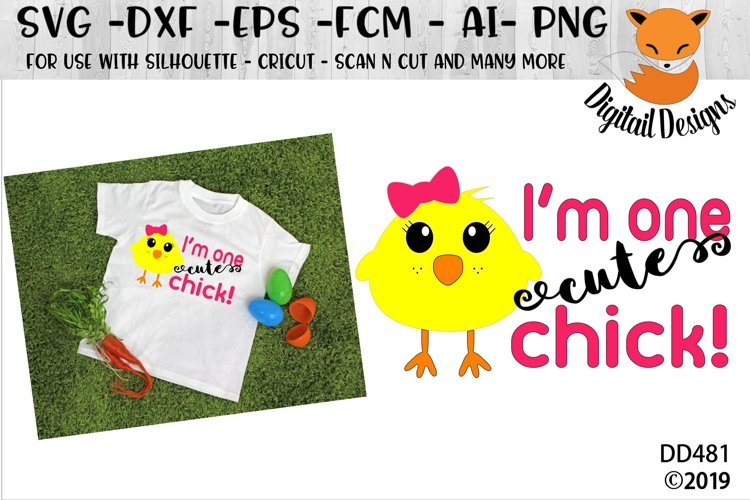 Easter One Cute Chick SVG Cut File example image 1