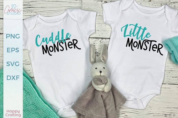 Cuddle Monster - Twin Baby SVG