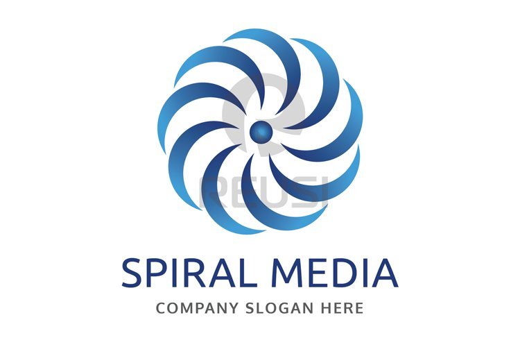 Spiral Media Logo Template example image 1