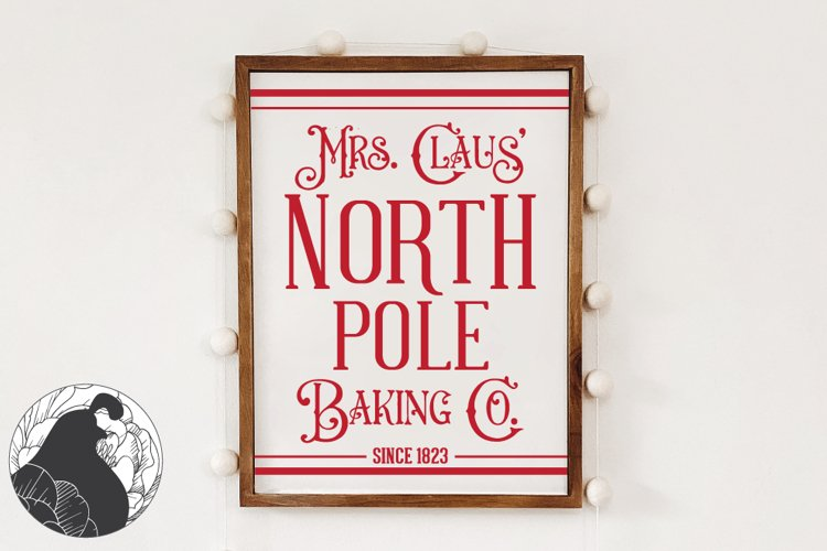 Christmas SVg, Mrs. Claus Baking Co SVG Cut File for Winter example image 1