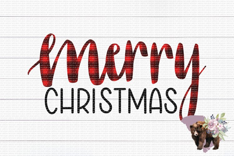 Merry Christmas PNG File / Sublimation Clipart File example image 1