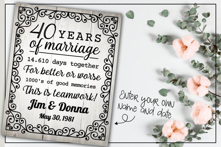 40 years wedding anniversary