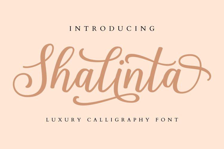 Shalinta - Luxury Calligraphy Font example image 1