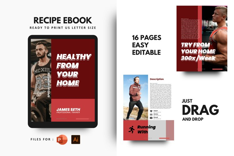 Fitness at your home eBook Template