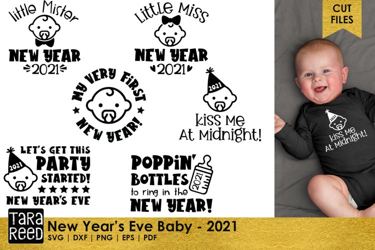 New Years Eve Baby - Baby SVG and Cut Files for Crafters