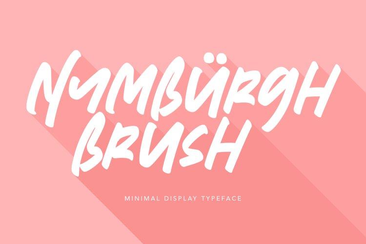 Nymburgh Brush Minimal Display Typeface example image 1