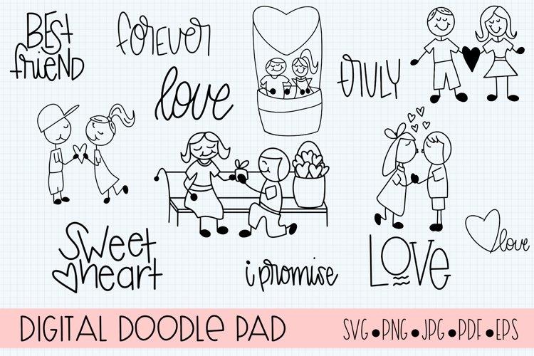 Love Doodles SVG, Vector, Clip Art