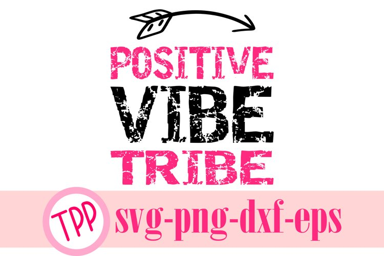 Positive Vibes svg, Motivational quote svg design, Funny svg example image 1