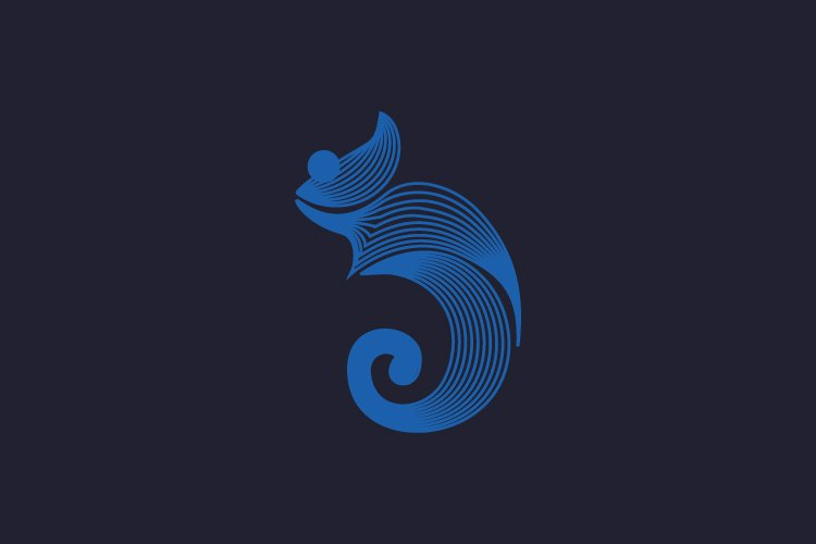 Unique chameleon logo and abstract logo example image 1