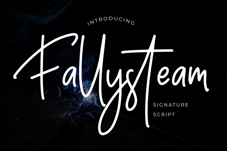 Fallysteam Signature Script Font example image 1