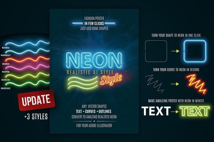 Neon realistic AI style