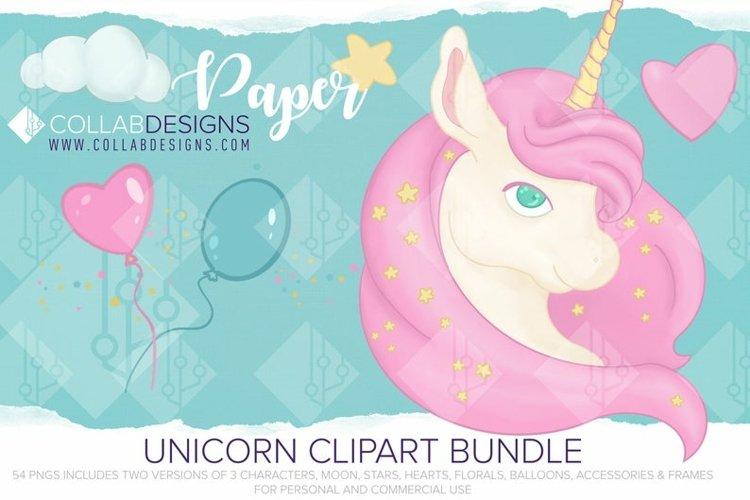 Pink Unicorn bundle Creators kit PNGs