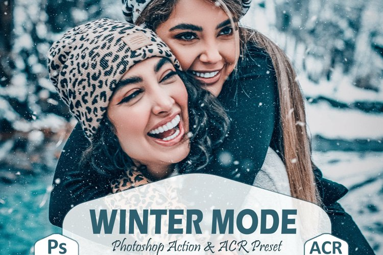 10 Winter Mode Photoshop Actions And ACR Presets, Cool Ps