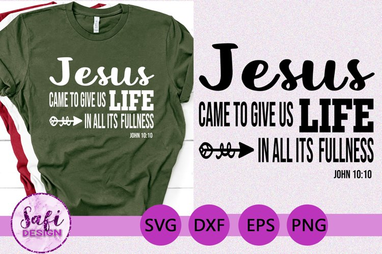 Jesus Bible Verse SVG DXF EPS PNG example image 1