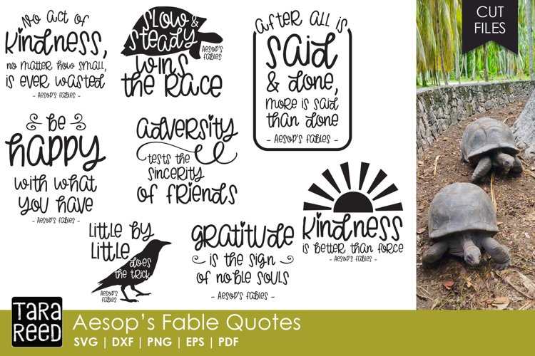 Aesop's Fable Quotes Bundle example image 1
