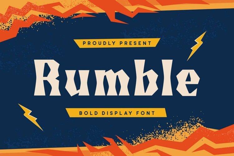 Web Font Rumble Font example image 1