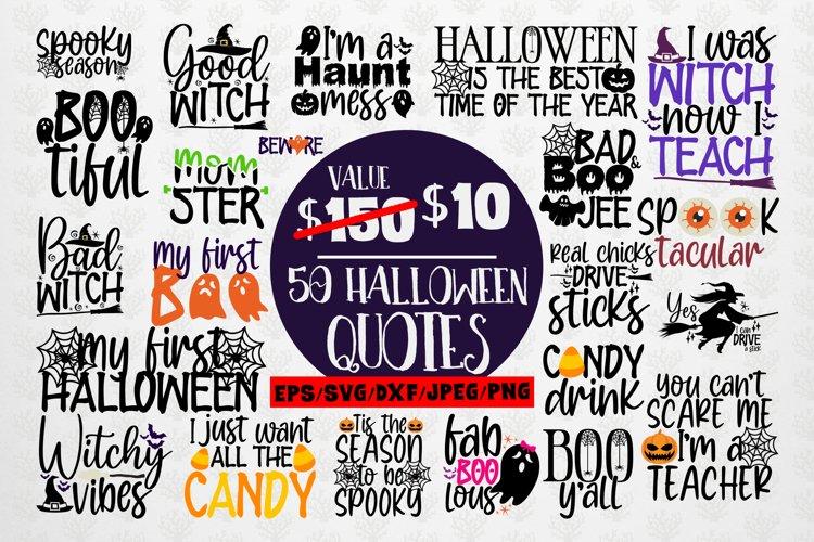 Big Halloween SVG Bundle - 50 Designs Cut Files example image 1