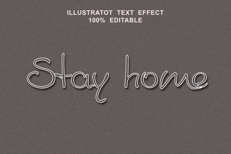 stay home text effect editable vector example image 1