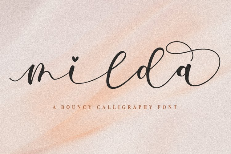 Milda A Bouncy Calligraphy Font example image 1
