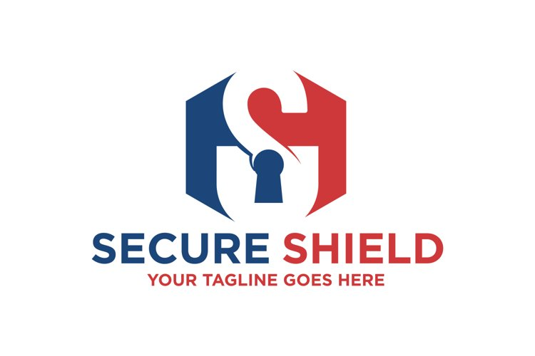 Secure Shield Letter S Logo example image 1