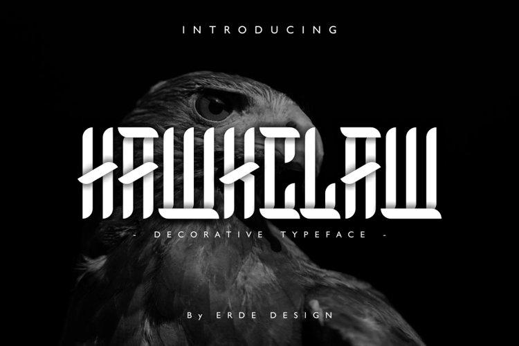 HawkClaw Decorative Typeface example image 1