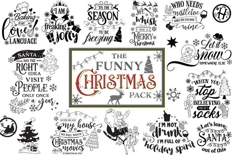The Funny Christmas Pack example image 1