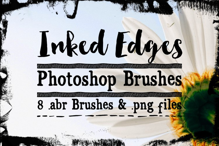 Inked Edges Photoshop Brushes example image 1