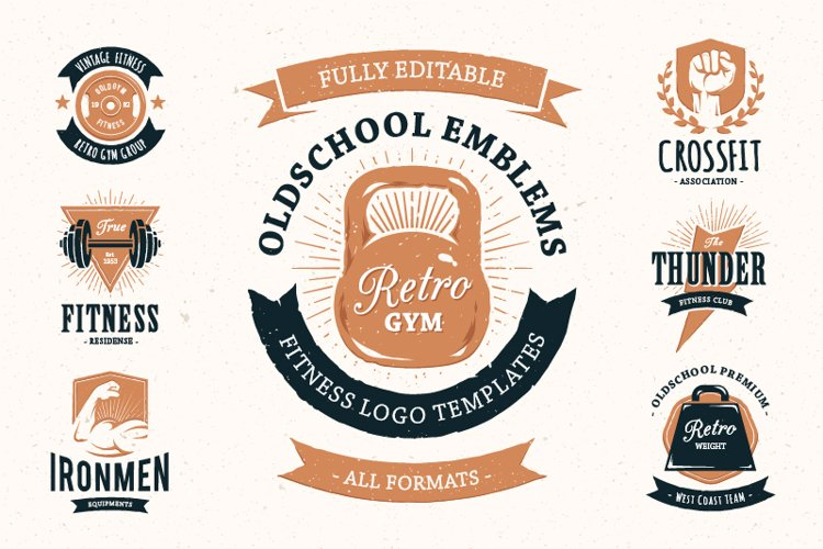 Retro Gym | Logo Templates example image 1