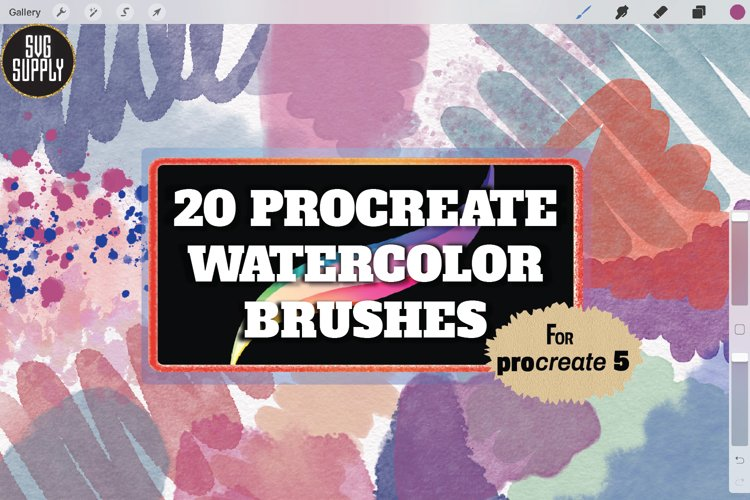 Procreate Watercolor Brush Set for Painting and Lettering