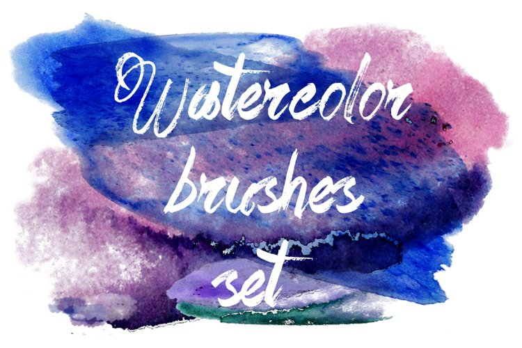Watercolor brushes set. example image 1
