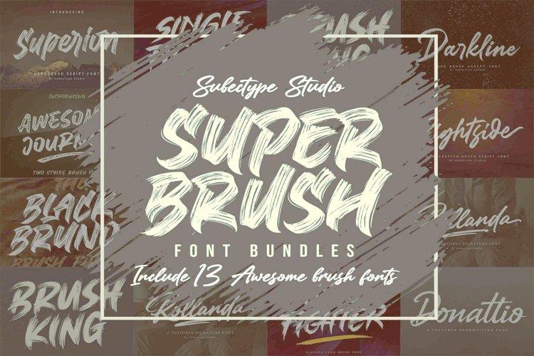 SUPER BRUSH - Font Bundles example image 1