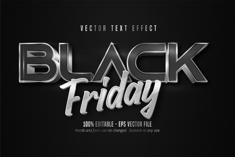 Black friday text, editable text effect example image 1
