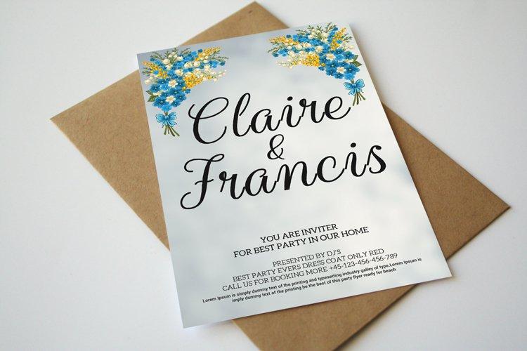 Marbel Wedding Invitation example image 1
