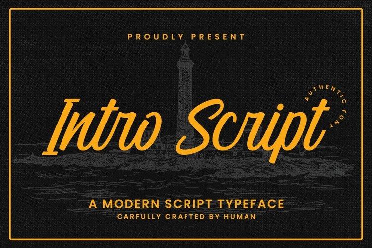 Web Font Intro Script example image 1