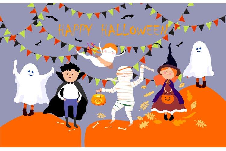 Halloween children in Halloween costume. example image 1